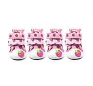 Cat Dog Shoes & Boots Cute Casual/Daily Keep Warm Fashion Wedding Cartoon Fuchsia Blue Pink For Pets