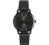 Women's Fashion Watch Japanese Quartz / Stainless Steel Band Casual Black Silver