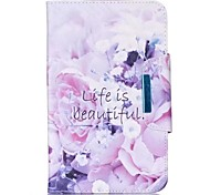 cheap -Case For Samsung Galaxy Tab A 9.7 Card Holder Wallet with Stand Flip Magnetic Full Body Cases Flower Hard PU Leather for Tab 4 10.1 Tab 4