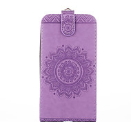 For Samsung Galaxy Core Prime Ace 4 Case Cover Card Holder with Stand Flip Embossed Full Body Case Solid Color Flower Hard PU Leather