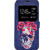 Funda Para Samsung Galaxy S8 Plus S8 Soporte de Coche con Soporte Diseños Cuerpo Entero Cráneos Dura Cuero Sintético para S8 S8 Plus S7