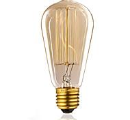cheap -1pc 60 W E26 / E27 ST58 Incandescent Vintage Edison Light Bulb 220-240 V