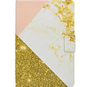 Недорогие -Чехол для samsung galaxy tab t580 t560 розовый золотой мраморный узор pu кожаный материал плоский защитный чехол чехол t550 t530 t350 t330