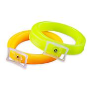 Dog Collar Adjustable Solid Plastic Orange Green