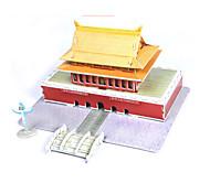 cheap -3D Puzzles Jigsaw Puzzle Paper Model Model Building Kit Famous buildings Chinese Architecture House Architecture 3D DIY High Quality Paper