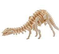 Недорогие -3D пазлы Пазлы Деревянные игрушки Динозавр Летательный аппарат Знаменитое здание Архитектура 3D Своими руками Дерево Классика