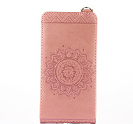 For Nokia Lumia 650 640 Case Cover Card Holder with Stand Flip Embossed Full Body Case Solid Color Flower Hard PU Leather for Lumia 535 630
