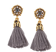 cheap -Women's Drop Earrings Jewelry Personalized Tassel Bohemian Euramerican Fashion Cotton Alloy Irregular Jewelry Wedding Anniversary