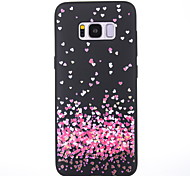 Case For Samsung Galaxy S8 S8 Plus Case Cover Little Love Pattern Scrub Black Thicker TPU Material Soft Case Phone Case