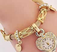 Women's Fashion Watch Wrist watch Bracelet Watch Digital Metal Band Silver Gold