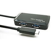 Недорогие -Yuankaida jy-sh009a хаб usb 3.1 тип-c 4 порта 5gbps с кабелем 0,15 м