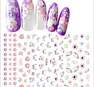 abordables -1pcs Pegatinas de uñas 3D Suministros DIY 3D Chicas y Mujeres Jóvenes Plantilla de estampado de uñas Diario Moda Alta calidad