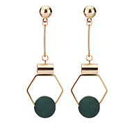 cheap -Women's Drop Earrings - Dangling Style Black / Green For Party / Birthday / Party Evening