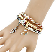 Women's Chain Bracelet Charm Bracelet Wrap Bracelet Fashion Punk Hip-Hop Rock Turkish Costume Jewelry Metal Alloy Rhinestone Circle