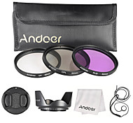 Andoer 52mm Filter Kit (UV CPL FLD)  Nylon Carry Pouch  Lens Cap  Lens Cap Holder  Lens Hood  Lens Cleaning Cloth