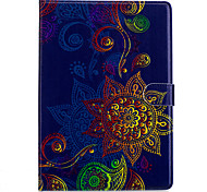 For Apple Ipad 2 3 4 Air2 Pro 10.5 Case Cover Flower Pattern PU Material Three Fold Flat Computer Shell Phone Case