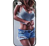 Недорогие -Case for apple iphone 7 plus 7 обложка рельефная модель задняя крышка чехол сексуальная леди soft tpu 6s плюс 6 плюс 6s 6 5 5s