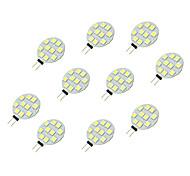 abordables -10pcs 2W 160lm G4 Luces LED de Doble Pin 10 Cuentas LED SMD 5050 Blanco 12V