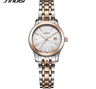 SINOBI Women's Wrist watch Japanese Quartz Shock Resistant Stainless Steel Band Luxury Casual Silver