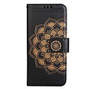 abordables -Funda Para Samsung Galaxy S8 Plus S8 Soporte de Coche Cartera Flip Diseños En Relieve Funda de Cuerpo Entero Mandala Flor Dura Cuero de PU