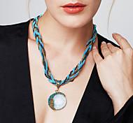 Недорогие -Жен. Бирюза Ожерелья с подвесками - Богемные, европейский, Мода Красный, Зеленый, Синий 42+5 cm Ожерелье 1шт Назначение Для вечеринок, День рождения, Подарок