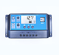 Solar Charge Controller 30A Dual USB 5V Output 12V 24V Auto Big LCD Display Solar Panel Controller Battery Charge Regulator