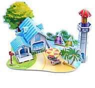 abordables -Puzzles 3D Puzzle Juguetes de Playa Juguetes de construcción Edificio Famoso Manualidades Papel duro Clásico Animé Dibujos Romántico Niños