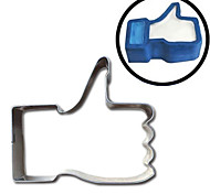 Недорогие -1 Файлы cookie Мультфильм образный палец Хлеб Печенье Пироги Для получения сыра конфеты Для Sandwich Нержавеющая стальНовогодняя тематика