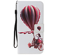 For Apple iPhone 7 7 Plus 6S 6 Plus SE 5S 5 Case Cover Balloon Girl Pattern PU Material Painted Point Drill Card Wallet Stent Phone Case