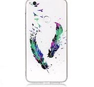Чехол для huawei p9 lite p8 lite чехол крышка перья рисунок высокая проницаемость tpu материал imd технология флеш-накопитель телефон