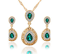 Women's Jewelry Set Necklace/Earrings Bridal Jewelry Sets Crystal Rhinestone Luxury Dangling Style Pendant Rhinestone Euramerican Bridal