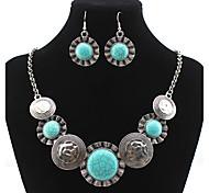 Mujer Juego de Joyas Pendientes colgantes Collares con colgantes Turquesa Diseño Básico Diseño Único Colgante Naturaleza Turco Joyería
