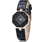 Women's Fashion Watch Casual Watch Wrist watch Quartz Imitation Diamond Leather Band rhombic Unique Creative Black White Blue Red Brown