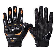 Недорогие -WOSAWE Спортивные перчатки Перчатки для велосипедистов Пригодно для носки Нескользящий Защитный Полный палец Горные велосипеды Шоссейные