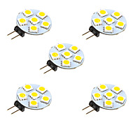 abordables -5pcs 1W 68lm G4 Luces LED de Doble Pin 6 Cuentas LED SMD 5050 Blanco Cálido Blanco 12V