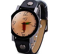 cheap -Women's Unique Creative Watch Fashion Watch Chinese Quartz Large Dial Leather Band Cool Black White