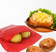 Недорогие -Печь микроволновой печеный красный картофельный мешок для быстрого быстрого за 4 минуты картофельных сумок