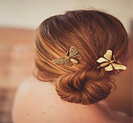 cheap -Europe and the United States foreign trade fashion hair accessories Contracted Korea headgear Metal butterfly lady's joker hairpin clip A0149-150