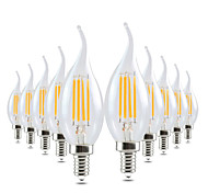 4W E14 LED Candle Lights CA35 4 leds COB Dimmable Decorative Warm White 300-400lm 2800-3200K AC 220-240V