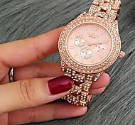 Women's Dress Watch Fashion Watch Bracelet Watch Unique Creative Watch Casual Watch Simulated Diamond Watch Chinese Quartz Calendar /