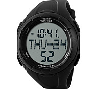 SKMEI Men's Sport Watch Digital Watch Digital Water Resistant / Water Proof Pedometer Stopwatch Large Dial PU Band Black Green