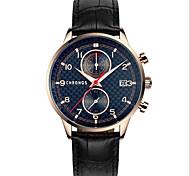 Men's Necklace Watch Quartz Genuine Leather Band Vintage Black