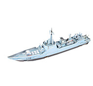 cheap -3D Puzzles Jigsaw Puzzle Model Building Kit Warship Ship 3D DIY High Quality Paper Classic Boys' Unisex Gift