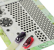 abordables -1pcs Modelo Pegatinas de uñas 3D Adhesivo Suministros DIY 3D Chicas y Mujeres Jóvenes Plantilla de estampado de uñas Diario Moda Alta