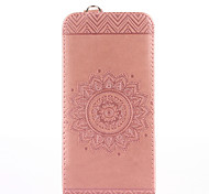 cheap -For iPhone X iPhone 8 iPhone 8 Plus Case Cover Card Holder with Stand Flip Embossed Full Body Case Solid Color Flower Hard PU Leather for