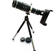 High quality 18x Zoom Optical Telescope Telephoto Lens Kit Phone Camera Lenses With Tripod For iPhone 6 7 Samsung S7 Xiaomi mi6 (Black)