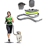 Hands Free Leash Slip Lead Reflective Portable Foldable Safety Solid Nylon Cotton
