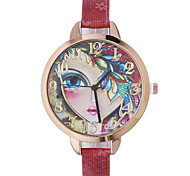 Women's Fashion Watch Wrist watch Quartz Leather Band Bohemian Black Red Brown Gold Navy Rose