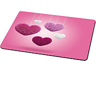 Heart-Shaped Mouse Pad Cute Style Rubber Cloth 21CM*26CM*0.3CM