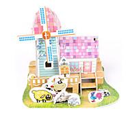 cheap -3D Puzzles Jigsaw Puzzle Paper Model Model Building Kit House Architecture 3D DIY High Quality Paper Classic Boys' Unisex Gift